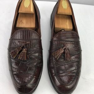 Stacy Adams Men's Loafer Shoes Genuine Snake 11M